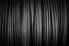 Large coil of Aluminum wire - stock photo