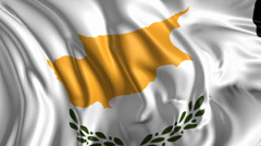 Flag of Cyprus Stock Footage
