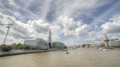 HDR Time lapse of London and the River Thames Stock Footage