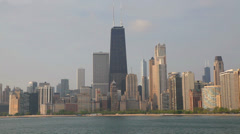 Downtown Chicago with John Hancock Center Stock Footage