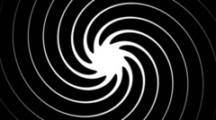 Swirly Spiral 2 alpha - stock footage