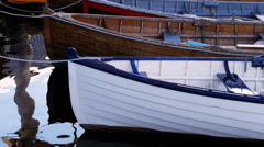 Wooden boats Stock Footage