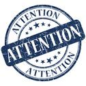 Stock Illustration of attention blue stamp
