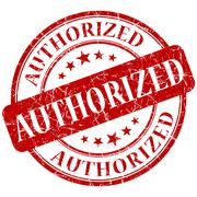 Authorized red stamp Stock Illustration