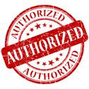 Stock Illustration of authorized red stamp
