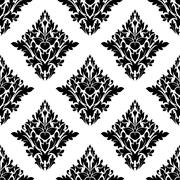 seamless arabesque pattern in diamond shape - stock illustration
