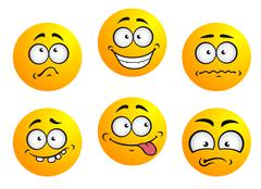 Set of yellow emoticons Stock Illustration