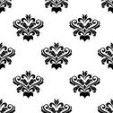 Stock Illustration of foliate arabesque pattern for damask