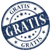 Gratis blue stamp Stock Illustration