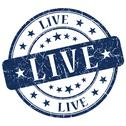 Stock Illustration of live blue stamp