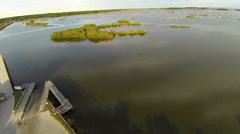 Cedar Key Aerial - stock footage