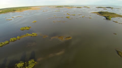 Hammocks in the Gulf of Mexico Aerial Stock Footage