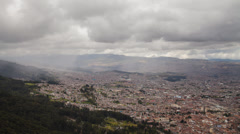 Time lapse of the Bogota cityscape in Colombia from Monserrate Stock Footage