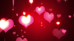 Hearts Particles Stock Footage