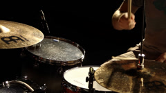 Rock Drummer - Drum Solo on Stage - stock footage