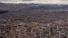 Time lapse of clouds passing over downtown Bogota, Colombia Stock Footage