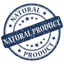 Stock Illustration of natural product blue stamp