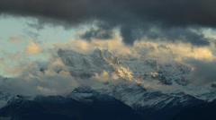 Timelapse- clouds of Swiss Alps Stock Footage