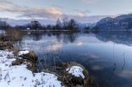Stock Photo of Germany, Bavaria, Winter on the Lake Lake Kochel near Garmisch-Patenkirchen