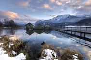 Stock Photo of Germany, Bavaria, winter on the Lake Kochelsee near Garmisch-Partenkirchen