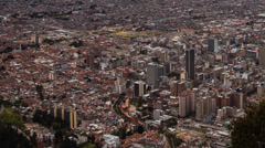 Time lapse of downtown Bogota, Colombia Stock Footage