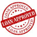 Stock Illustration of loan approved red stamp