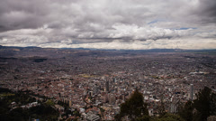 Time lapse of clouds passing over Bogota in Colombia from Monserrate Stock Footage