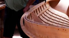 Huon pine dinghy Stock Footage