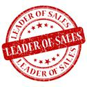Stock Illustration of leader of sales red stamp