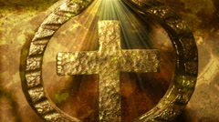 Religious Cross Motion Background Stock Footage