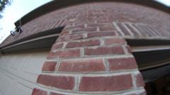 Brick bricks house Stock Footage