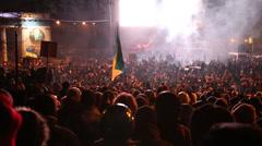 UKRAINE, KIEV, JANUARY 19, 2014: Anti-government protest in Kiev, Ukraine - stock footage