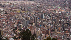 Time lapse of a busy downtown Bogota, Colombia Stock Footage