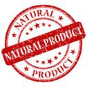 Stock Illustration of natural product red stamp