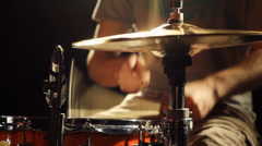 Rock Drummer - Drums Hi-Hat Solo on Stage - stock footage