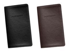 Address book leather bound Stock Photos