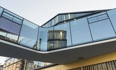 Germany, North Rhine-Westphalia, Aachen, skywalk, office building Stock Photos