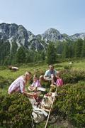 Stock Photo of Austria, Salzburg State, Altenmarkt-Zauchensee, family with to children having a