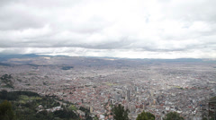 HD video of the Bogota metropolis in Colombia from Monserrate Stock Footage