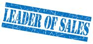Stock Illustration of leader of sales grunge blue stamp