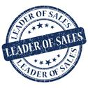 Stock Illustration of leader of sales blue stamp