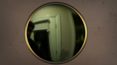 Peephole looking out Stock Footage