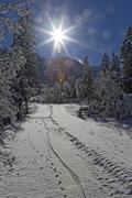 Stock Photo of Austria, Tyrol, Eng, Grosser Ahornboden, snow covered landscape
