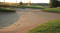 Golf course sand trap Stock Footage