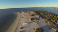 Stock Video Footage of Gulf Beach aerial shot