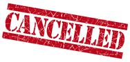 Stock Illustration of cancelled grunge red stamp
