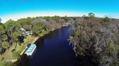 Withlacoochee River, Yankeetown, Fl Stock Footage