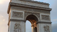 Stock Video Footage of Traffic Around the Arc du Triomphe in Paris
