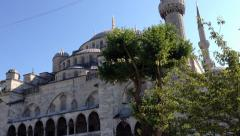 Call to Prayer at Sultanahmet Mosque (Blue Mosque) in Istanbul, Turkey Stock Footage