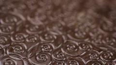 Chocolate texture food Stock Footage